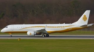 [FullHD] Flemming House Embraer Lineage 1000 takeoff at Geneva/GVA/LSGG