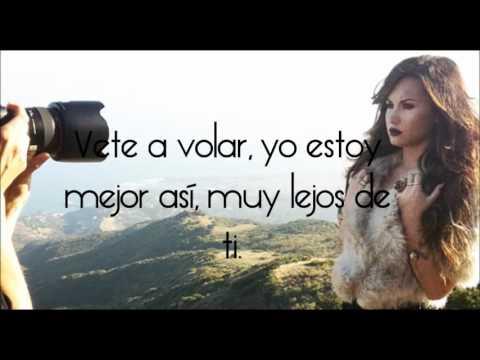 Demi Lovato   Rascacielo Lyrics On Screen :D