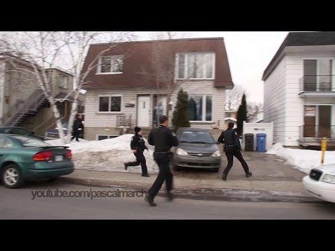 Cops run for backup: Full length video / La police accourt: L'intégrale 2/28/2014