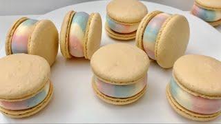 파스텔 무지개 마카롱( Rainbow macaron )…