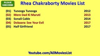 Rhea Chakraborty Movies List