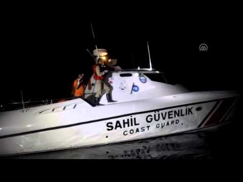 Illegal migrants rescued by Turkish coast guard in Aegean Sea