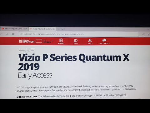 VIZIO QUANTUM X EARLY PEAK AT THE REVIEW FROM RTINGS.COM ( PLEASE CONSIDER SUPPORTING THEM )