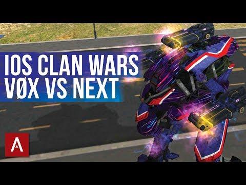 VØX vs NEXT / iOS Clan Wars / War Robots iOS Champion League Gameplay