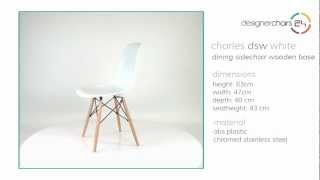 Eames Dining Sidechair Wooden Base (dsw) White