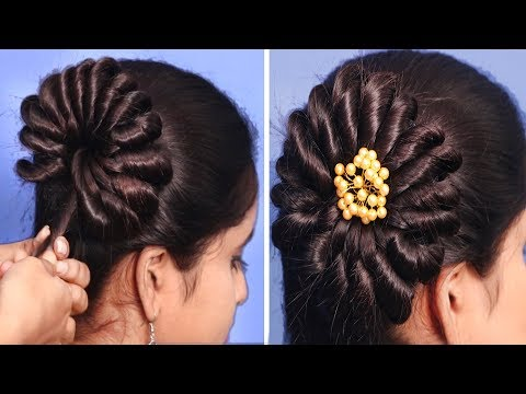 Bun Hairstyle For Wedding Step By Step | Beautiful Hairstyles | Prom Hairstyle | Bridal Hairstyle thumbnail