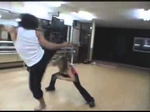 Selina Lo Practicing Martial Arts and Stunts