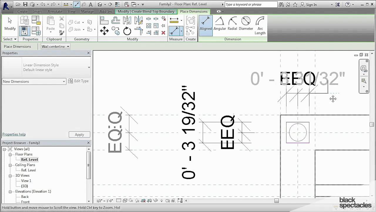 Building the Chair Legs and a Nested Family - Custom Families and  Parameters in Revit 2016