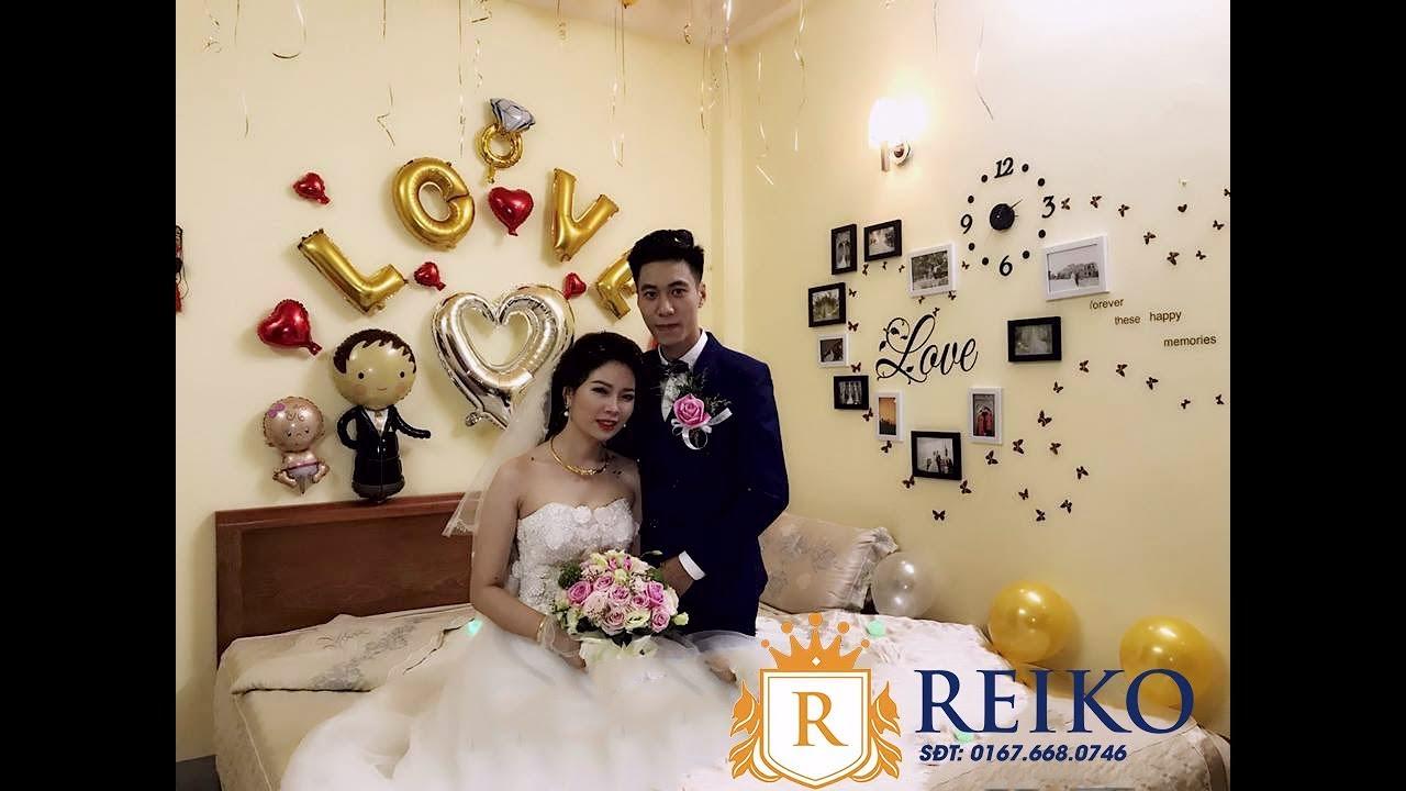 Trang trí phòng cưới bạn Văn Ánh – Thùy Linh Tại Cầu Giấy – đẹp nhất HN