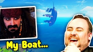Summit1G FLYING BOAT! CDNThe3rd TROLLS! | Sea Of Thieves Funny Moments