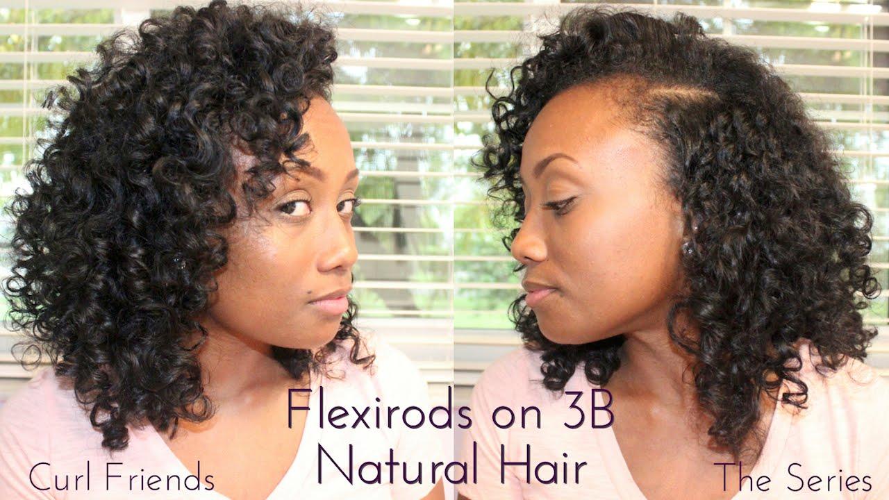 Hairstyles For Short 3b Hair: Flexi Rod Set On 3B Natural Hair
