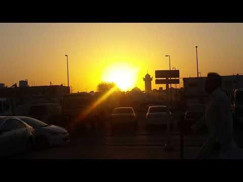 Sunset view from Sanaiya Al Ain -Industrial Area UAE