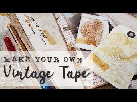 Junk Journal DIY - Vintage Tape Tutorial