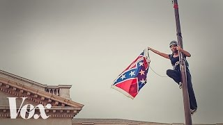 Activist Bree Newsome takes down Confederate Flag at South Carolina Statehouse