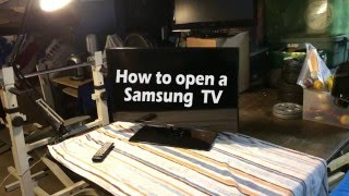 "How to open a Samsung TV 29"" - UN29F4000AF"