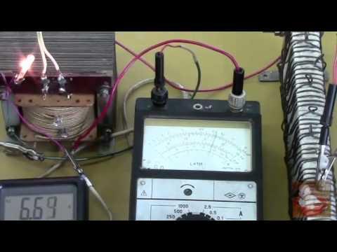 Как намотать сетевой трансформатор своими руками. Проверка. Урок 2.