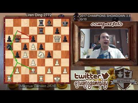 Magnus Carlsen VS Liren Ding #3.5 CHAMPIONS SHOWDOWN 2017, Partida rápida de 10 minutos por jugador