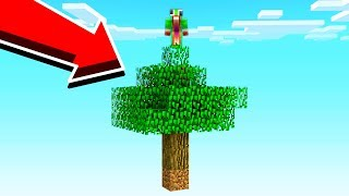 SURVIVING WITH ONLY A TREE IN MINECRAFT!