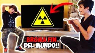 BROMA FIN DEL MUNDO A MI HERMANO Y MIS AMIGOS!! ATAQUE NUCLEAR!! *TERMINA MAL*