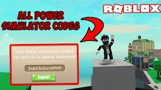All 27 Power Simulator Codes (Do I Have My Own ?) | Roblox