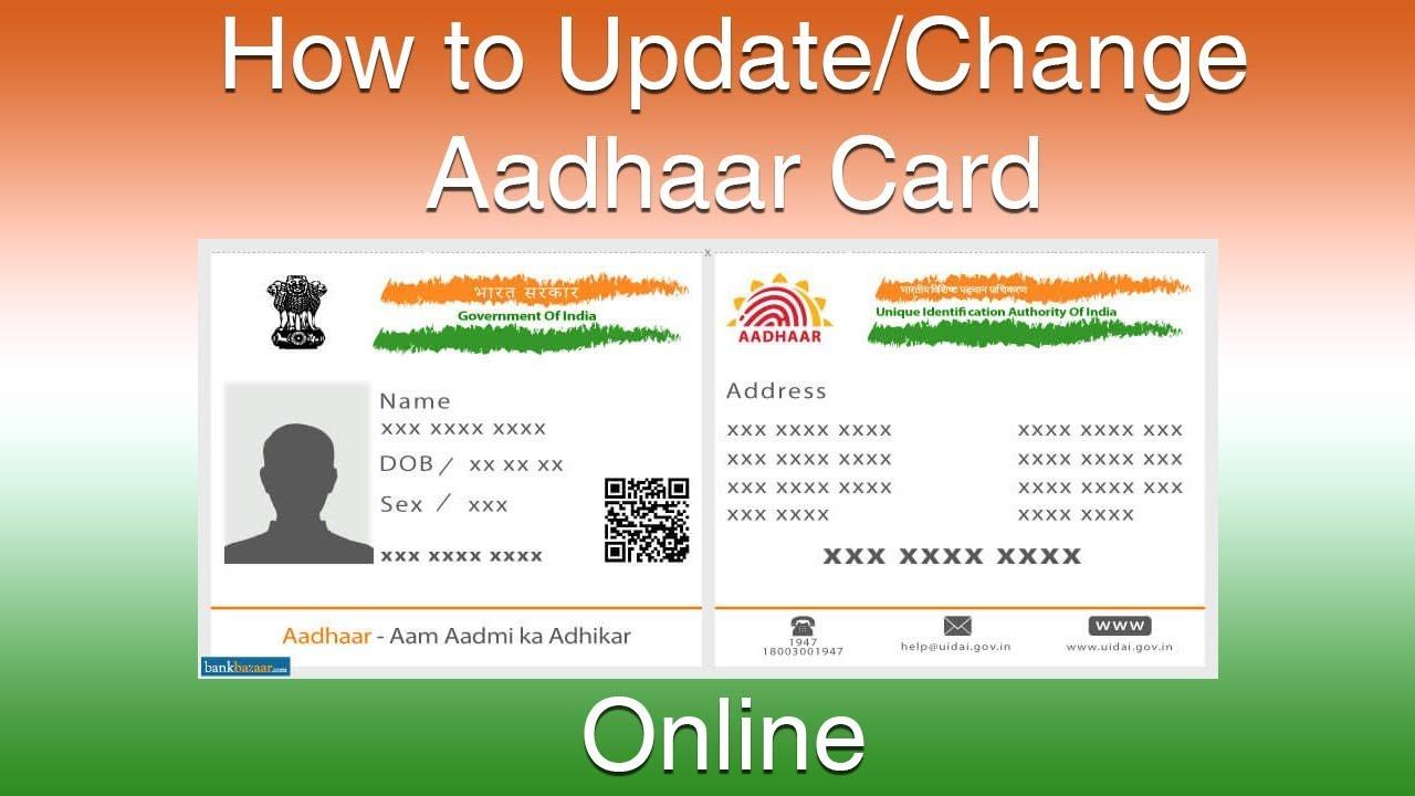 aadhar card name correction  youtube