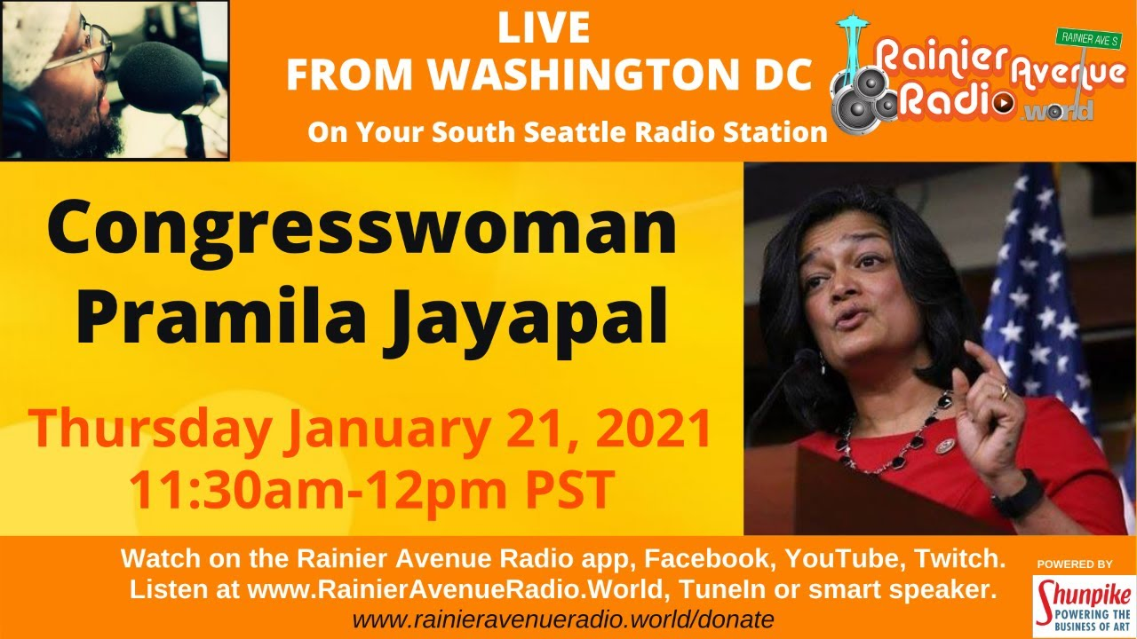#LIVE from D.C. Tony B talks to Congresswoman Pramila Jayapal
