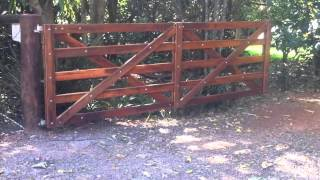 Automatic Wooden Farm Gate