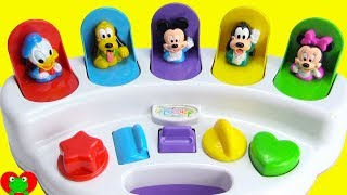 Mickey Mouse Club House Friends Surprise Eggs Learn Colors and Counting Pop Up Pals