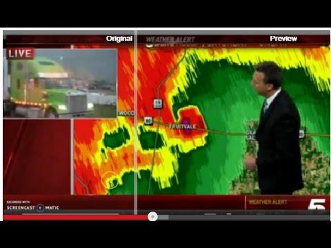 3 Tornados Hit Canton, Texas