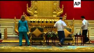 Clinton meets President Thein Sein in historic visit to Myanmar