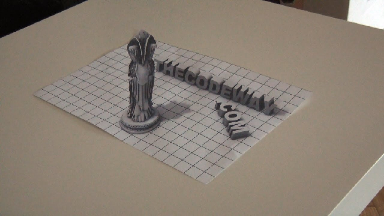 Amazing 3D Art On Paper anamorphic