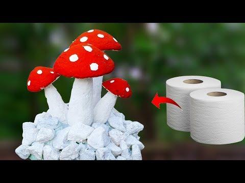 টিস্যু পেপার দিয়ে চমৎকার আইডিয়া || Tissue Paper  Mushrooms Crafts || DIY Paper Craft