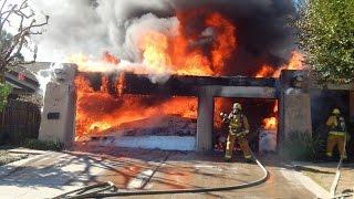 Orange house fire