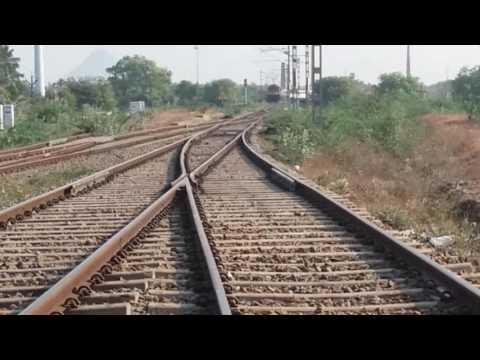 Tirunelveli passenger train entering panagudi railway station