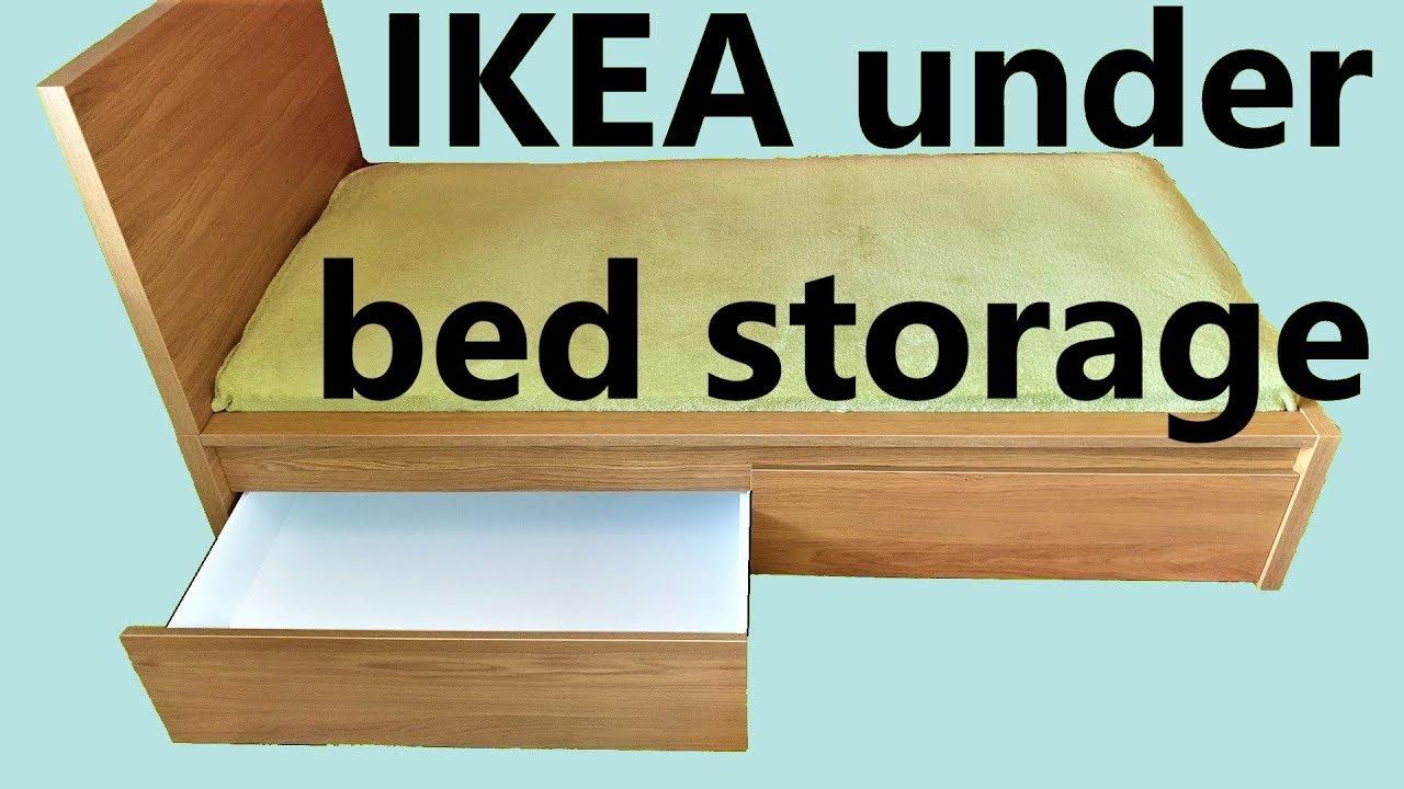 Rvs Wandplank Ikea.Ikea Malm Underbed Storage Assembly Youtube