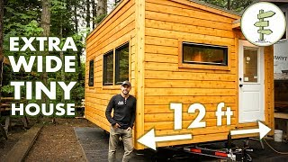 Special 12 Ft Wide Tiny House Feels Like A Real Home! Full Tour