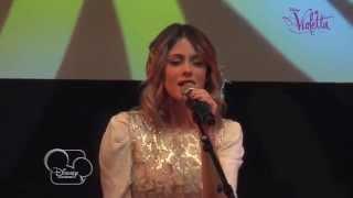 """Showcase Violetta - """"Hoy somos mas """" (version acoustique) - Exclusivité Disney Channel !"""