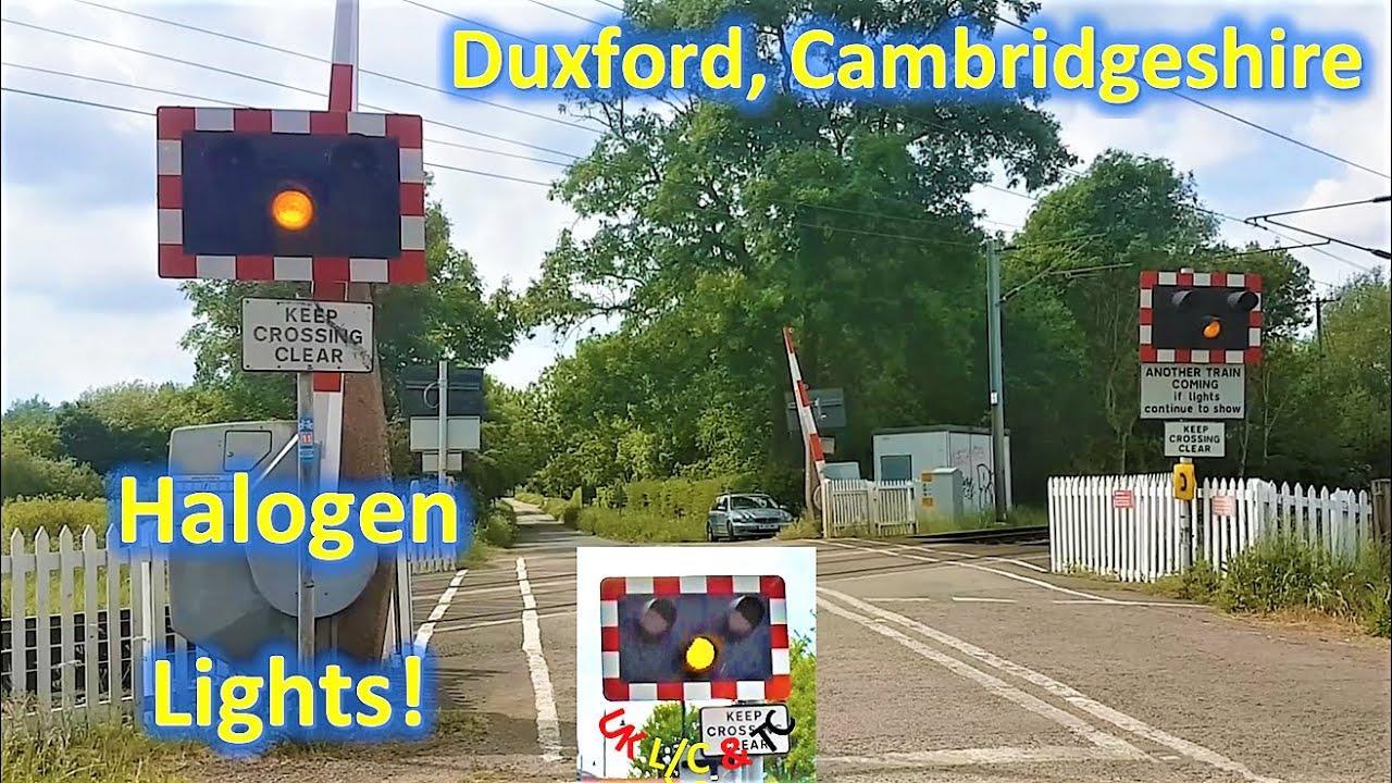 *Halogen Lights* Duxford Level Crossing, Cambridgeshire
