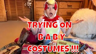 Trying On Baby Halloween Costumes with Princess Ella