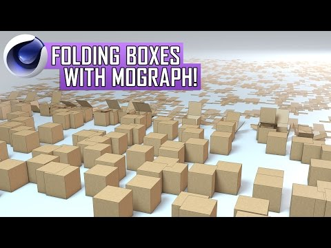 Cinema 4D Tutorial: Folding Boxes with MoGraph