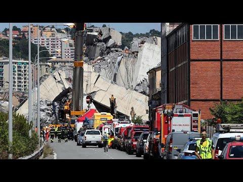 Terminou busca de vítimas de colapso da ponte Morandi