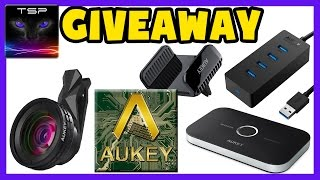 Aukey Products GIVEAWAY - USB 3 Hub / Wideangle Lens / Phone Holder & Bluetooth Thingy(, 2017-04-24T16:42:18.000Z)