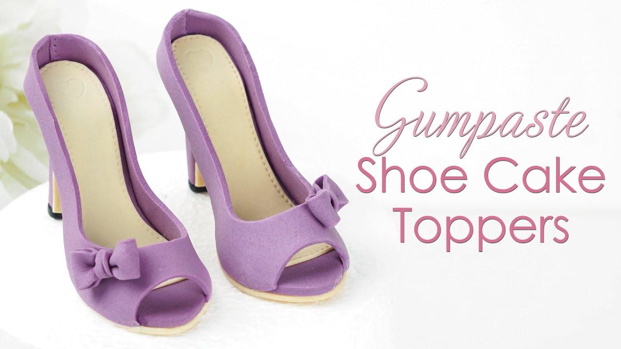 Sugar Fashion Cake Sugar Stiletto Cake Decoration Gum Paste Fancy Footwear Shopping Cake Topper Fondant  Gumpaste High Heel Shoe Topper