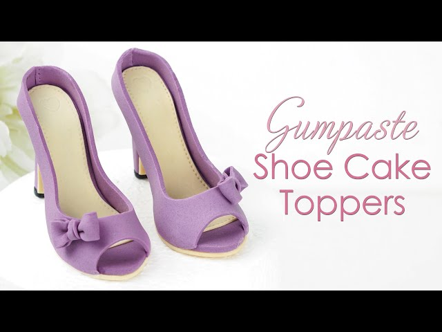 How to make Gumpaste / Sugar Shoe Cake Toppers with Template
