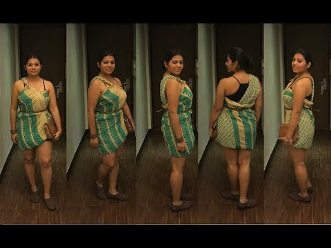 Drape a saree as a party DRESS, in 2 cool styles
