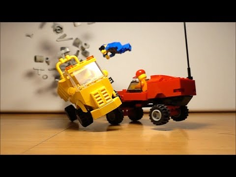 LEGO Super Slow Motion Crash Compilation 1000 fps thumbnail