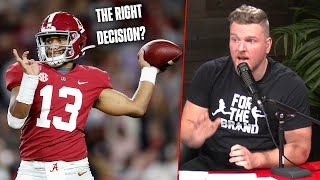 Pat McAfee's Thoughts On Tua Tagovailoa Entering The NFL