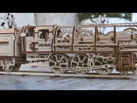 "Locomotive with tender ""UGEARS 460"""