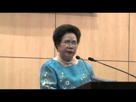 Miriam at Ateneo de Manila University (14 November 2014)