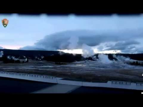 LARGE Lenticular Cloud Forms Over Geyser! {HD TL} @Yellowstone!